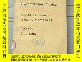 二手書博民逛書店methods罕見of experimental physics volume 15-part A(P1764)奇