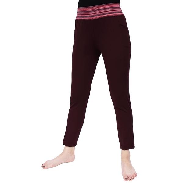【南紡購物中心】【Vital Salveo 紗比優】女運動休閒八分褲-贈女寬口襪1雙(麻花粉紅/紫紅/咖啡色)