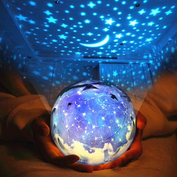 滿天星光浪漫星空燈兒童睡眠投影燈星光投影儀夜燈安睡燈生日交換禮物