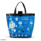 〔小禮堂〕哆啦A夢 防水海灘袋手提袋《深藍.道具》水桶袋.透明游泳袋 4901610-29471