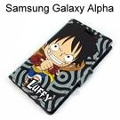 海賊王側翻支架皮套 [R03] Samsung Galaxy Alpha G850Y 航海王 魯夫【台灣正版授權】