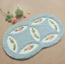 幸福居*歐式田園臥室地毯浴室地毯飄窗毯床邊毯門墊地墊腳墊洗澡吸水墊子(尺寸:45CM×75CM )
