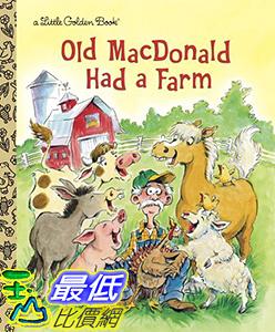 [106美國直購] 2017美國暢銷兒童書 Old MacDonald Had a Farm (Little Golden Book) Hardcover