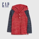 Gap男幼童 活力撞色拼接袖連帽上衣 521461-熱情紅