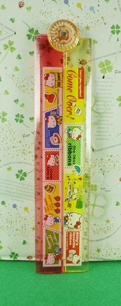 【震撼精品百貨】Hello Kitty 凱蒂貓~摺疊尺-LMC紅黃