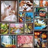 繪畫 DIY手繪風景人物花卉數字油畫【40x50CM】61-100款
