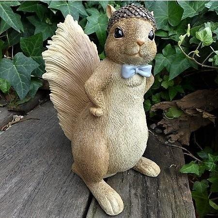 《齊洛瓦鄉村風雜貨》日本zakka雜貨 松鼠擺飾 帶松果帽小松鼠擺飾 居家裝飾 園藝裝飾 店家佈置