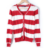 【MASTINA】百搭條紋罩衫-紅 10411