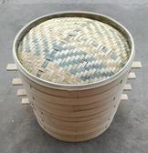 正方形蒸籠竹子木質蒸籠包子饅頭蒸籠家用商用籠屜鮑魚小籠包 CWY ~ 八五折~