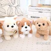 兒童電動玩具狗金毛犬仿真毛絨泰迪會叫會走路的小狗機器狗狗女孩(一件免運)