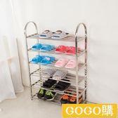 不銹鋼鞋架鞋櫃多層簡易家用鞋架宿舍收納鞋架特價簡約現代