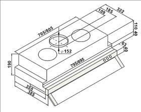 【歐雅系統家具廚具】豪山 HOSUN VEQ-9158P 隱藏式除油煙機