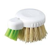 小禮堂 MAMEITA 日製 短柄圓形清潔刷 鍋刷 菜瓜布 洗碗刷 (棕綠刷頭) 4930419-44405