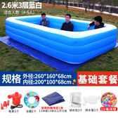 現貨-超大號遊泳池兒童家用加厚充氣水池成人家庭洗澡池 igo街頭潮人