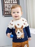 寶寶毛衣秋冬套頭嬰兒打底衫加厚保暖兒童針織衫男童毛線衣