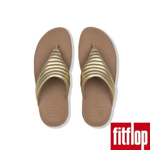 熱銷推薦5折【FitFlop】LULU PADDED TOE THONGS(金色)