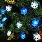 LED 50燈雪花造型樹燈/串燈(藍白光...