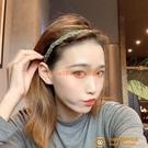 高級感髮箍帶鉆韓版細邊麻花壓髮頭箍洗臉網美防滑百塔髮卡頭飾品【小狮子】