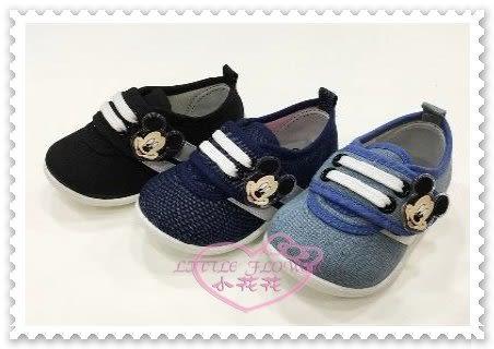 ♥小花花日本精品♥ 《Disney》迪士尼 米奇童鞋 兒童布鞋 休閒鞋 魔鬼氈 黑色 台灣製 117215 (預購)