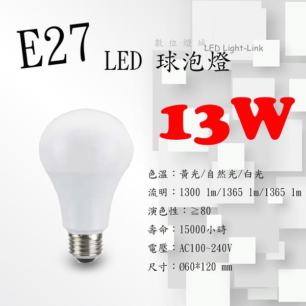 E27 LED球泡燈 13W【數位燈城 LED Light-Link】MARCH 居家燈泡 全電壓