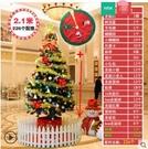 聖誕節裝飾品商場家用聖誕樹裝飾擺件套餐60cm1.5m 1.8m加密櫥窗場景擺件【2.1米套餐+樹裙+樹欄】