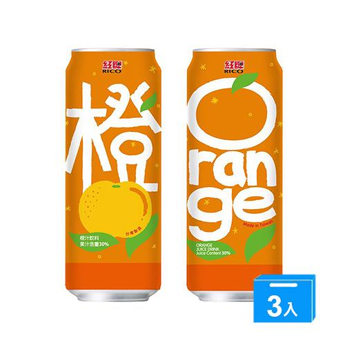 紅牌橙汁飲料490ML*3\t\t\t\t\t【愛買】