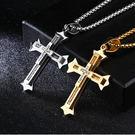 【5折超值價】經典美式風格十字架鑲鑽造型...