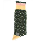 KENZO 混色菱格紋刺繡中筒襪(綠色)999978
