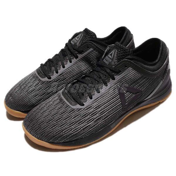 Reebok 訓練鞋 R CrossFit Nano 8.0 黑 咖啡 八代 健身專用 膠底 重量訓練 男鞋【PUMP306】 CN1022