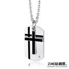 Z.MO鈦鋼屋 中性項鍊 鈦鋼十字架項鍊...