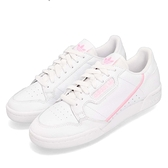 adidas 休閒鞋 Continental 80 W 白 粉紅 皮革 基本款 經典復刻 女鞋 運動鞋【ACS】 G27722