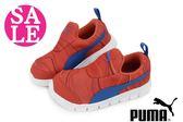 PUMA Bao 2Marble Inf 小童運動鞋 輕量柔軟 色彩線波 懶人鞋 休閒鞋 零碼出清 I9528#藍橘◆OSOME童鞋
