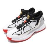 adidas 籃球鞋 D Rose 10 白 黑 男鞋 運動鞋 飆風玫瑰 【PUMP306】 F36778