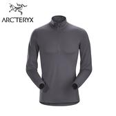 Arc'teryx 始祖鳥 Phase AR Zip Neck LS 保暖透氣排汗衣 機長灰 男款 #16261