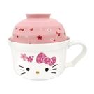 小禮堂 Hello Kitty 單把陶瓷泡麵碗 泡麵杯 湯杯 強化瓷 (櫻花系列陶瓷餐具) 4713218-89885