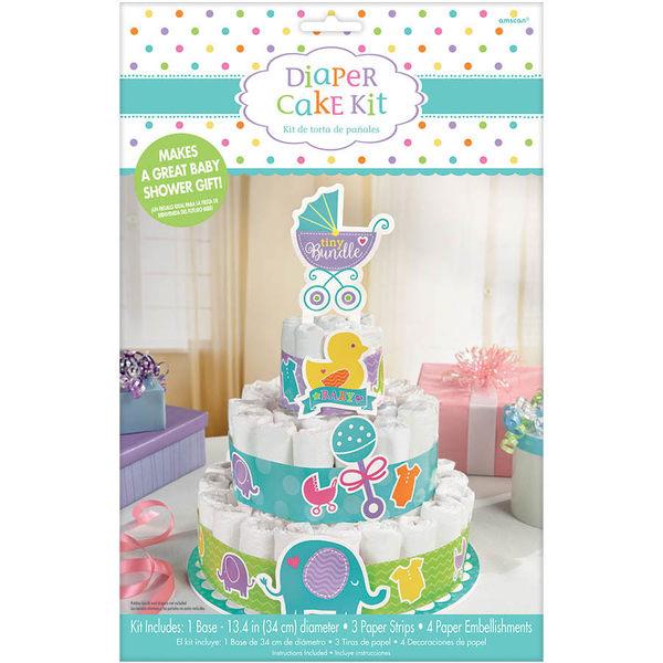 Baby Shower尿布蛋糕裝飾組
