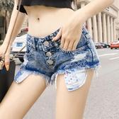 短褲 夏季新款低腰DJ牛仔短褲露口袋性感包臀夜店酒吧女熱褲子