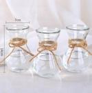 花瓶 創意簡約玻璃花瓶透明水培綠蘿植物花瓶花盆風信子插花瓶客廳擺件【快速出貨八折鉅惠】