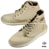 Palladium 新竹皇家 Crushion系列 卡其色 棉質 帆布 中筒 休閒鞋 男款 NO.A9065