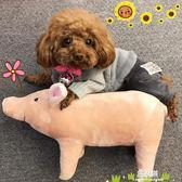 法斗睡覺伴侶四腳豬豬柴犬柯基泰迪英斗比熊寵物狗毛絨玩具可愛      易家樂