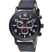 瑞士WENGER Attitude態度系列時尚主張三眼指針腕錶 01.1543.104