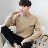 毛衣 毛衣男秋季潮流寬鬆學生半高領針織衫青少年男士打底衫線衣 娜娜小屋