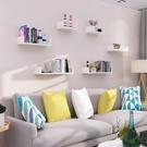 墻上置物架免打孔臥室隔板擱板書架掛墻壁掛客廳電視背景墻面裝飾