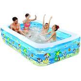 嬰兒童充氣游泳池家庭超大型 180*145*60 TW