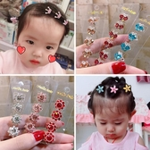 兒童髮夾韓國兒童盤發水鉆發扣不傷發女童水晶編發夾子頭飾發夾豆豆扣抓夾 童趣屋