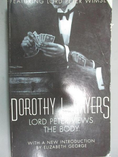 【書寶二手書T7/原文小說_IHC】Lord Peter Views the Body : Lord Peter Wim