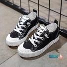 兒童帆布鞋 童鞋兒童帆布鞋2019秋季女童小白鞋男童餅干鞋中大童板鞋布鞋