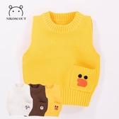 男寶寶馬甲秋冬女0一1-2-3-6歲小孩針織背心嬰兒潮兒童棉毛線馬夾