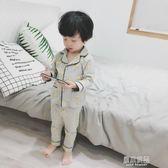 男童睡衣薄款長袖 小孩秋裝純棉套裝寶寶空調服兒童家居服春秋款    原本良品