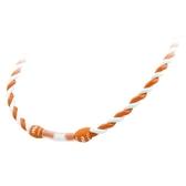 【恩悠數位】NU 鈦鍺能量精品 Metis 雙色編織項圈(白橘 55cm長)